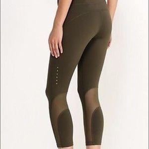 b83bf59f1a19e8 Nike Pants | Olive Green Mesh Leggings | Poshmark